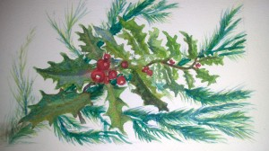 Christmastide Painting by Andrea Connolly