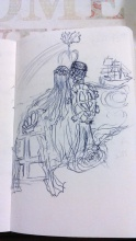 Endeavour Epilogue, Pen Drawing by Andrea Connolly