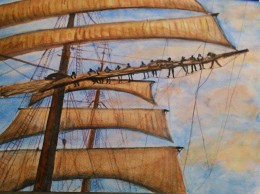 Reefing the sails by Andrea Connolly