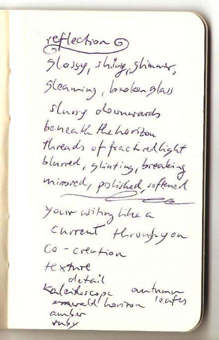 Excerpt from my Moleskine Notebook