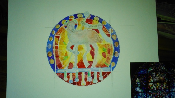 Ecce Agnus Dei - Third wash of watercolours